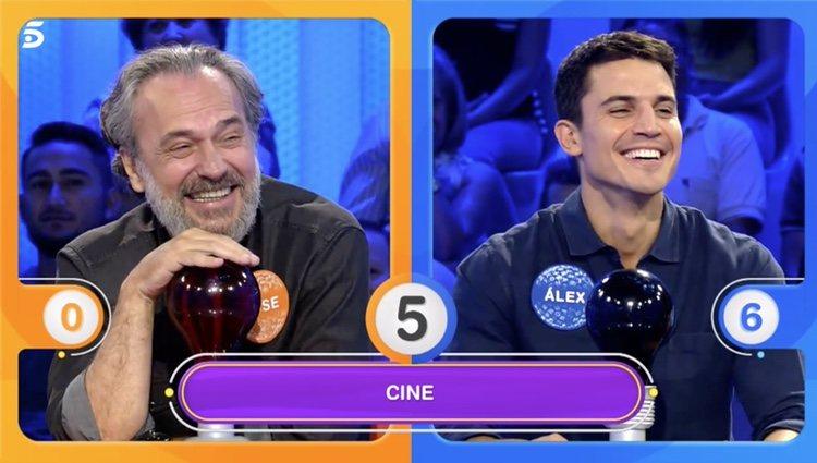 Ambos actores han compartido momentos de risas en su participación en 'Pasapalabra' - Telecinco.es