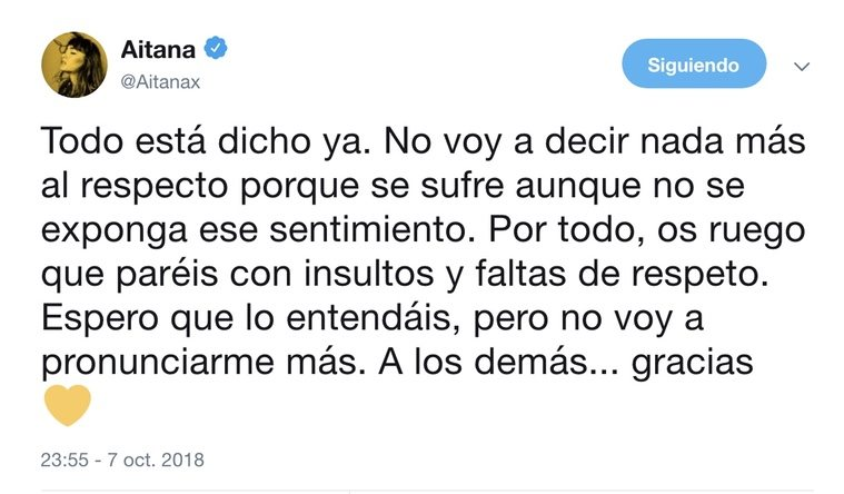 Aitana respondido a los haters / Twitter