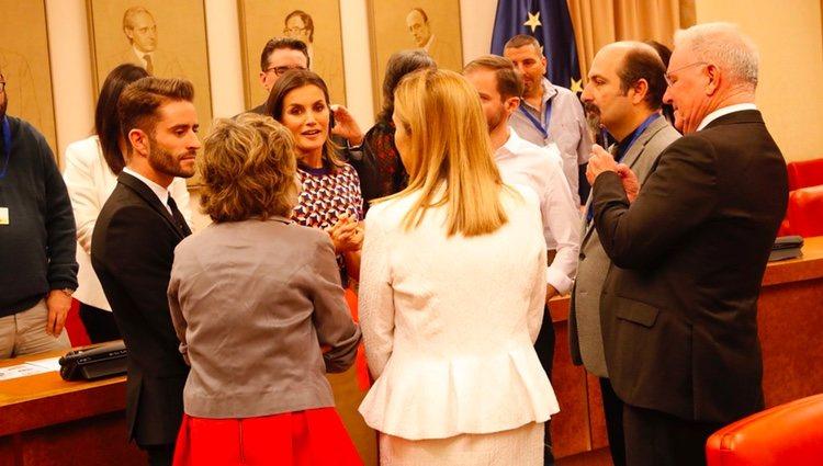 La Reina Letizia y Pelayo Díaz en el acto instutucional del Día Mundial de la Salud Mental