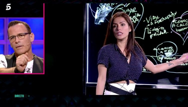 Miriam Saavedra hablando de Carlos Lozano / Foto: Telecinco.es