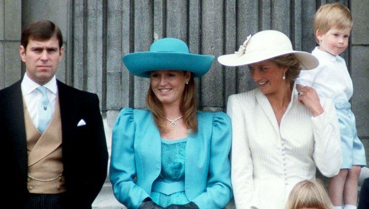 El Príncipe Andrés, Sarah Ferguson y la Princesa Diana de Gales