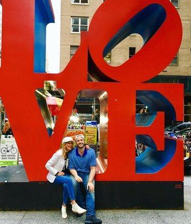 Ana Obregón y Álex Lequio posando en su última foto en Nueva York / Fuente: @ana_obregon_oficial