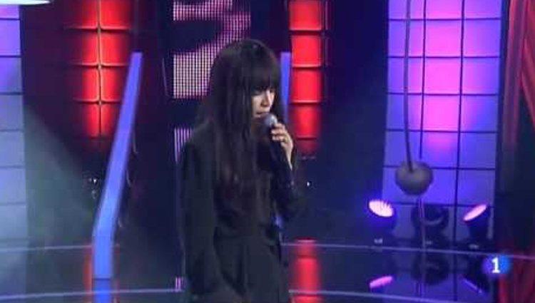 Loreen actuando en 'Feliz 2013!' en Televisión Española