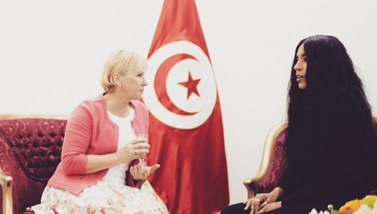 Loreen se reunió con diferentes personalidades para hablar sobre problemas sociales en Europa y Asia / Foto: Instagram