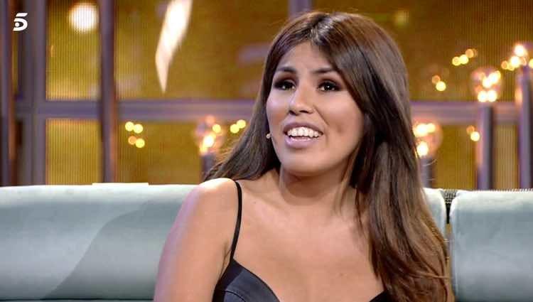 Chabelita Pantoja contestando a Techi y Omar / Telecinco.es