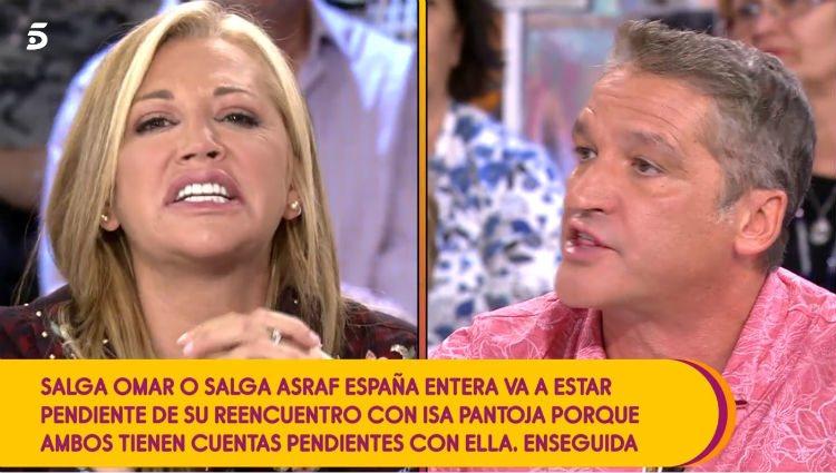 Belén Esteban y Gustavo González en 'Sálvame'/foto:Telecinco.es