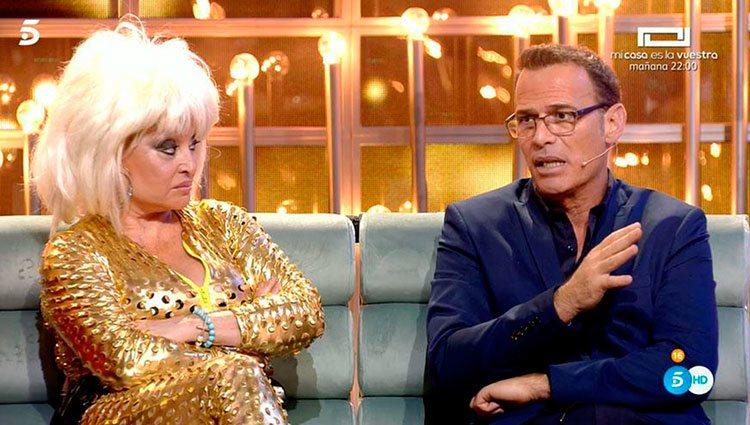 Aramís Fuster y Carlos Lozano durante la gala de 'Gran Hermano VIP 6' / Telecinco.es