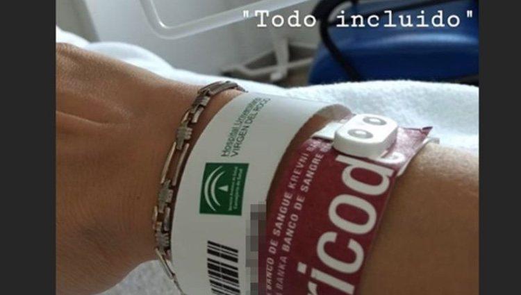 Michu ha compartido con sus seguidores su ingreso en el Hospital previo a la operación - Instagram