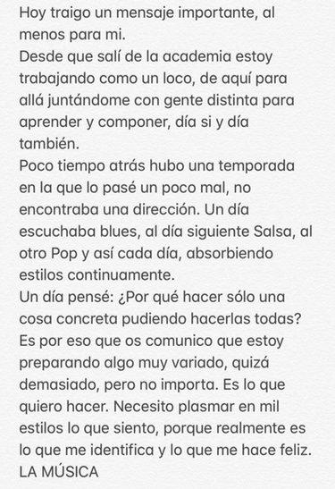 El texto que escribió Roi Méndez en Twitter