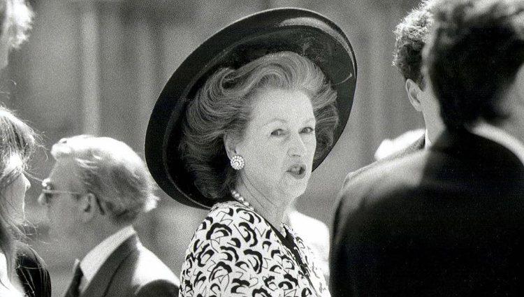 Raine Spencer en el funeral de la Princesa Diana de Gales