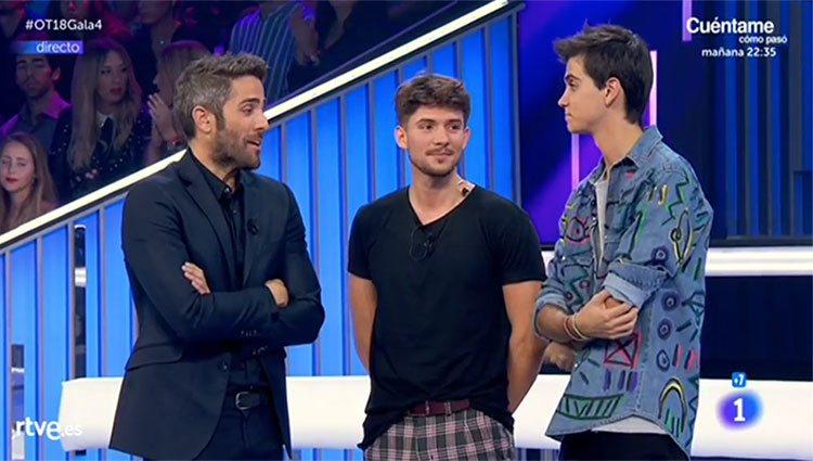 Right y Zulueta con Roberto Leal tras coocer que son los nominados / RTVE.es
