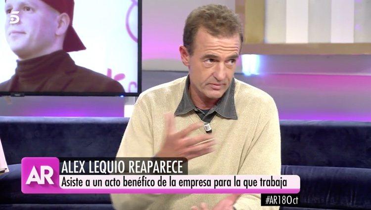Alessandro Lequio hablando de su hijo en 'El programa de AR'/ Foto: Telecinco