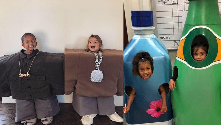 Los hijos de Kim y Kourtney Kardashian disfrazados para Halloween / Fotos: Instagram