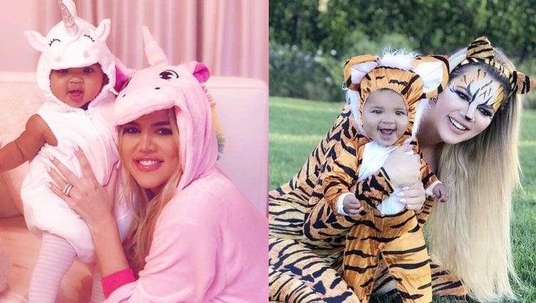 Khloé Kardashian y su hija True disfrazadas a juego / Fotos: Instagram