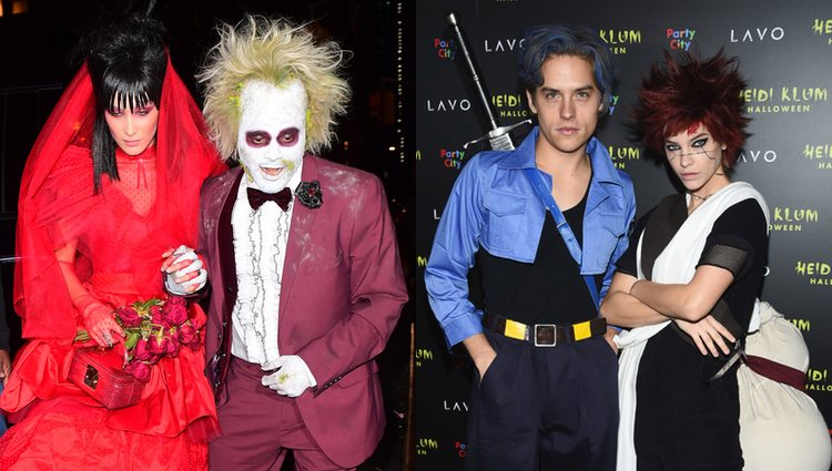 Bella Hadid, The Weekend, Dylan Sprouse y Barbara Palvin en la fiesta de Halloween 2018 de Heidi Klum