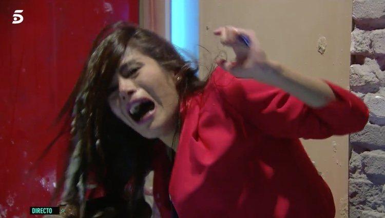 La concursante no paró de gritar durante su paso por los distintos escenarios - Telecinco.es