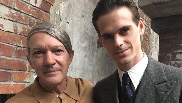 Gonzalo Ramos y Antonio Banderas / Instagram