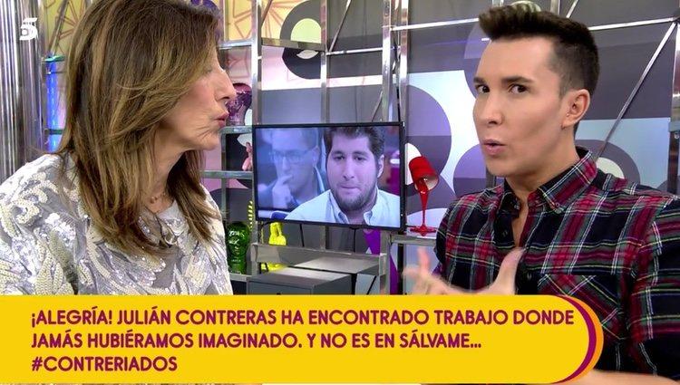 Omar Suárez y Paz Padilla hablando de la situación de Julián Contreras Jr. / Fuente: telecinco.es