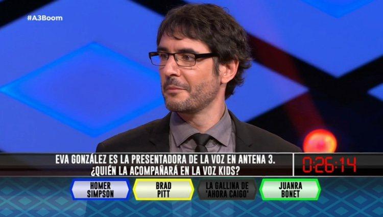 Una pregunta en '¡Boom!' desvela que Juanra Bonet presentará 'La Voz Kids'/ Foto: Antena 3