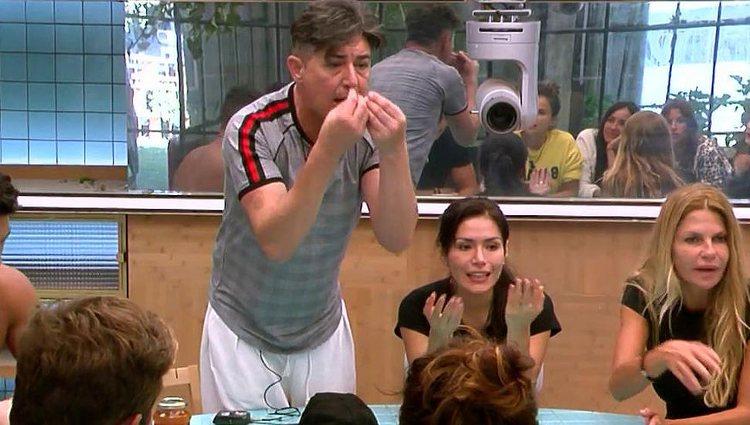 Ángel Garó, en plena discusión en la cocina / Telecinco.es