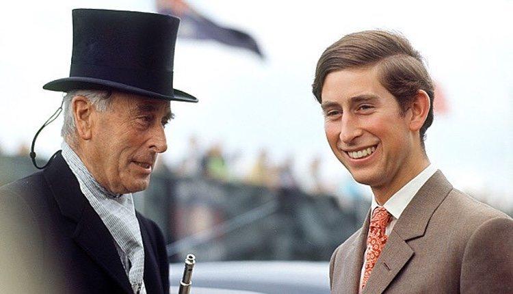 Carlos de Inglaterra junto a su tío-abuelo, Lord Louis Mountbatten