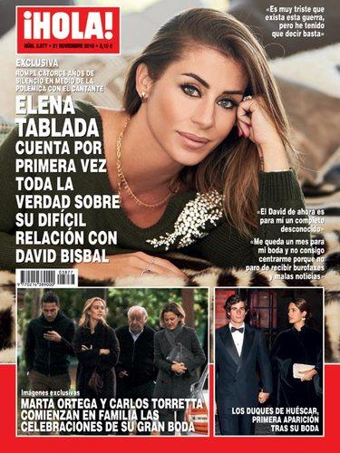 Elena Tablada en la portada de la revista ¡HOLA!