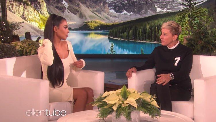 Kim Kardashian en 'El Programa de Ellen DeGeneres'