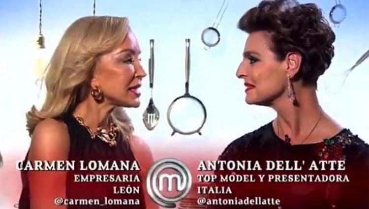 Carmen Lomana y Antonia Dell'Atte protagonizan una supuesta reconciliación en 'MasterChef Celebrity' | Imagen: Rtve.es
