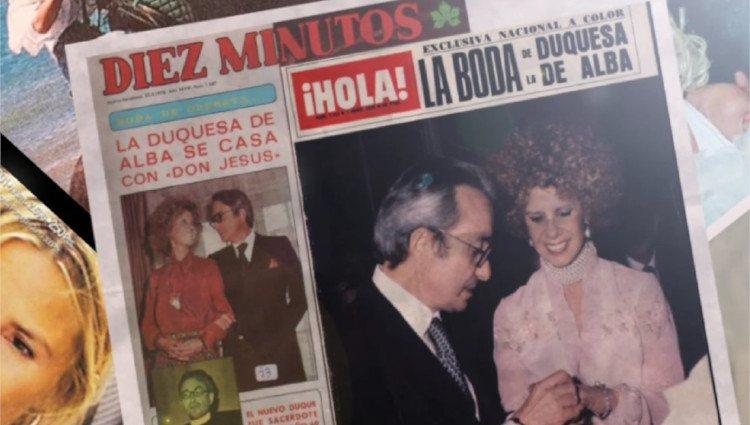 Portada relativa al día de la boda entre Jesús Aguirre y la Duquesa de Alba/Foto:Mitele