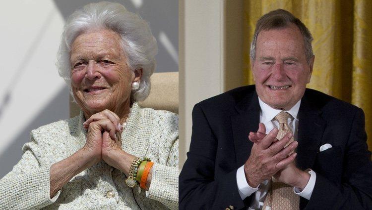 Barbara Bush y George H. W. Bush