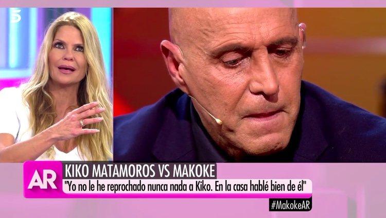 Makoke hablando de que no dará una nueva oportunidad a Kiko / Telecinco.es