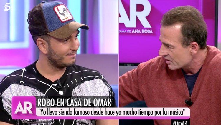 Omar Montes con Alessandro Lecquio en 'El Programa de Ana Rosa'