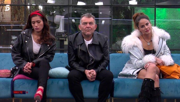 Los tres nominados esperando para ver sus porcentajes / Telecinco.es