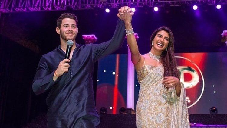 Nick Jonas y Priyanka Chopra durante su boda india / Fuente: @nickjonas