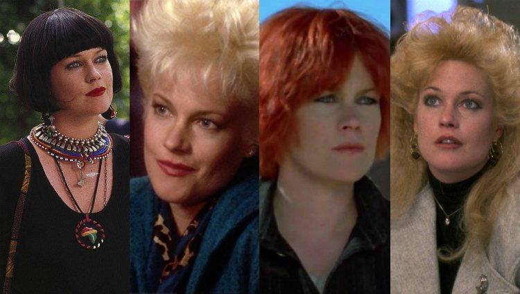 Los radicales cambios de look de Griffith para sus películas de los años 80