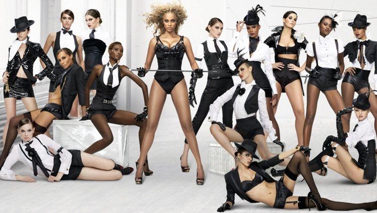 Fotografía promocional del show 'America's Next Top Model', producido y presentado por Tyra Banks