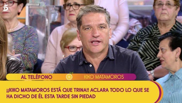 Kiko Matamoros en directo al teléfono en 'Sálvame' |Foto:Telecinco.es