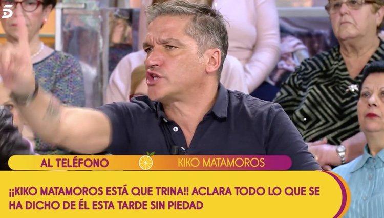 Gustavo González justificándose ante Kiko Matamoros |Foto:Telecinco.es