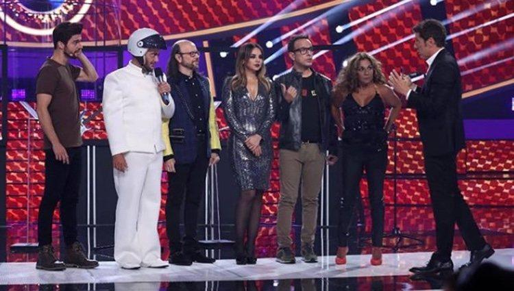 El jurado y los concursantes en 'Tu Cara Me Suena'
