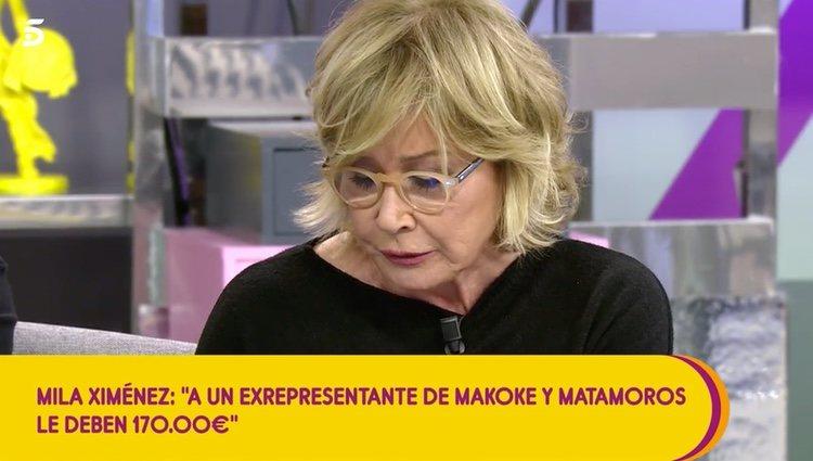 Mila Ximénez hablando de la deuda de la expareja / Telecinco.es