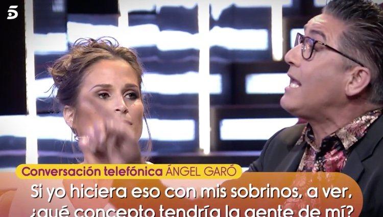 Llamada telefónica de 'Sálvame a Ángel Garó |Foto:Telecinco.es