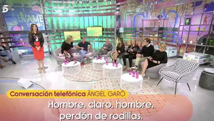 Ángel Garó habla sobre lo mal que lo han tratado en 'Sálvame' |Foto:Telecinco.es