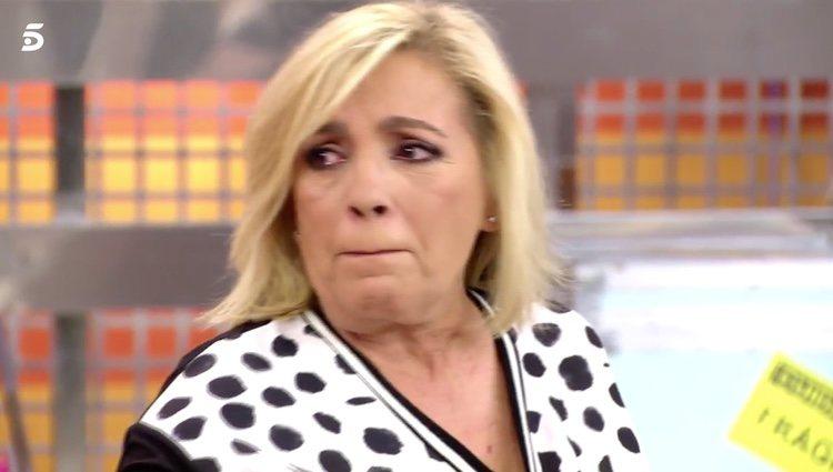 Carmen Borrego contando cómo se encuentra su hermana Terelu Campos / Telecinco.es