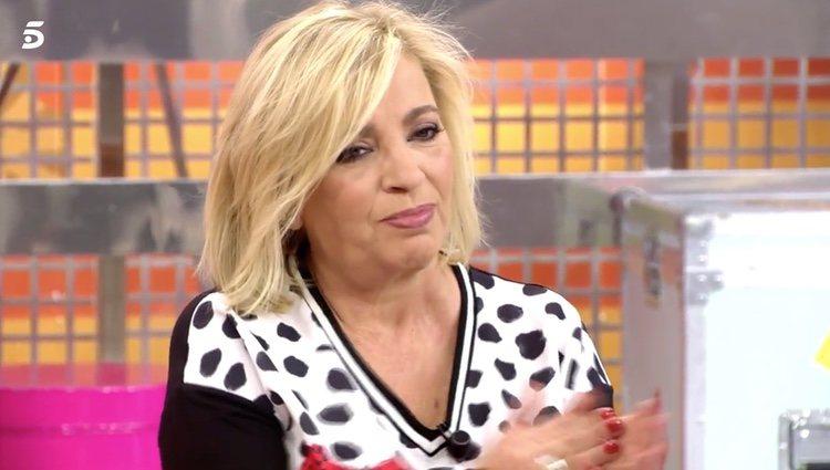 Carmen Borrego mandando ánimos a su hermana Terelu Campos / Telecinco.es