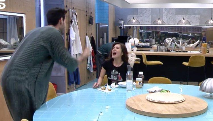 Fuerte discusión entre Miriam Saavedra y Asraf |Foto:Telecinco.es