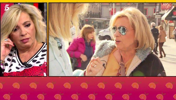 Carmen Borrego hablando con Cristina Soria / Telecinco.es