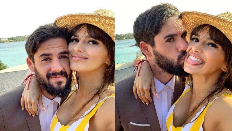 Los selfies con los que Sara Sálamo ha felicitado a Isco Alarcón / Instagram