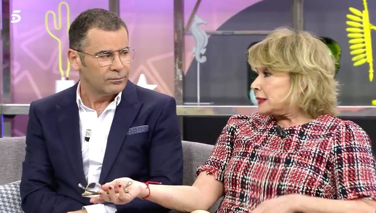 Jorge Javier Vázquez y Mila Ximénez en 'Sálvame' / Fuente: telecinco.es