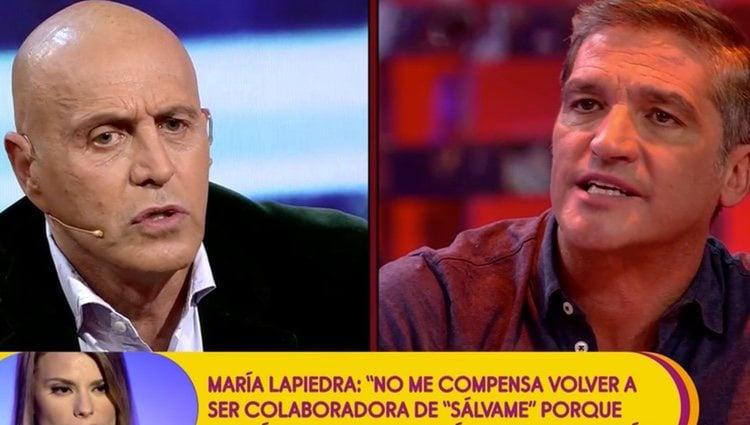 Kiko Matamoros y Gustavo González en 'Sálvame'| Foto: Telecinco.es