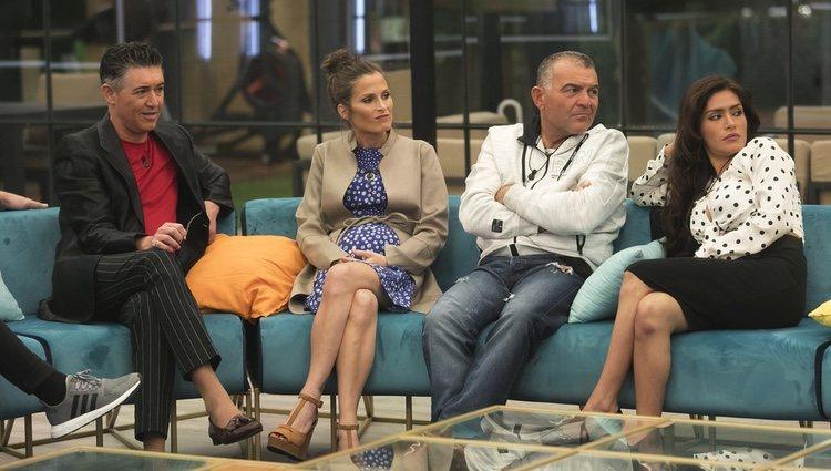 Ángel Garó, Verdeliss, El Koala y Miriam Saavedra en la gala 6 de 'GH VIP 6' | Foto: Telecinco.es